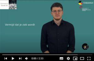 afbeelding van het startscherm, video: Vermijd dat je ziek wordt - - ingesproken door Ingeborg