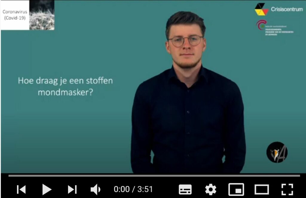 afbeelding van het startscherm, video: Hoe draag en was je een stoffen mondmasker? - ingesproken door Free