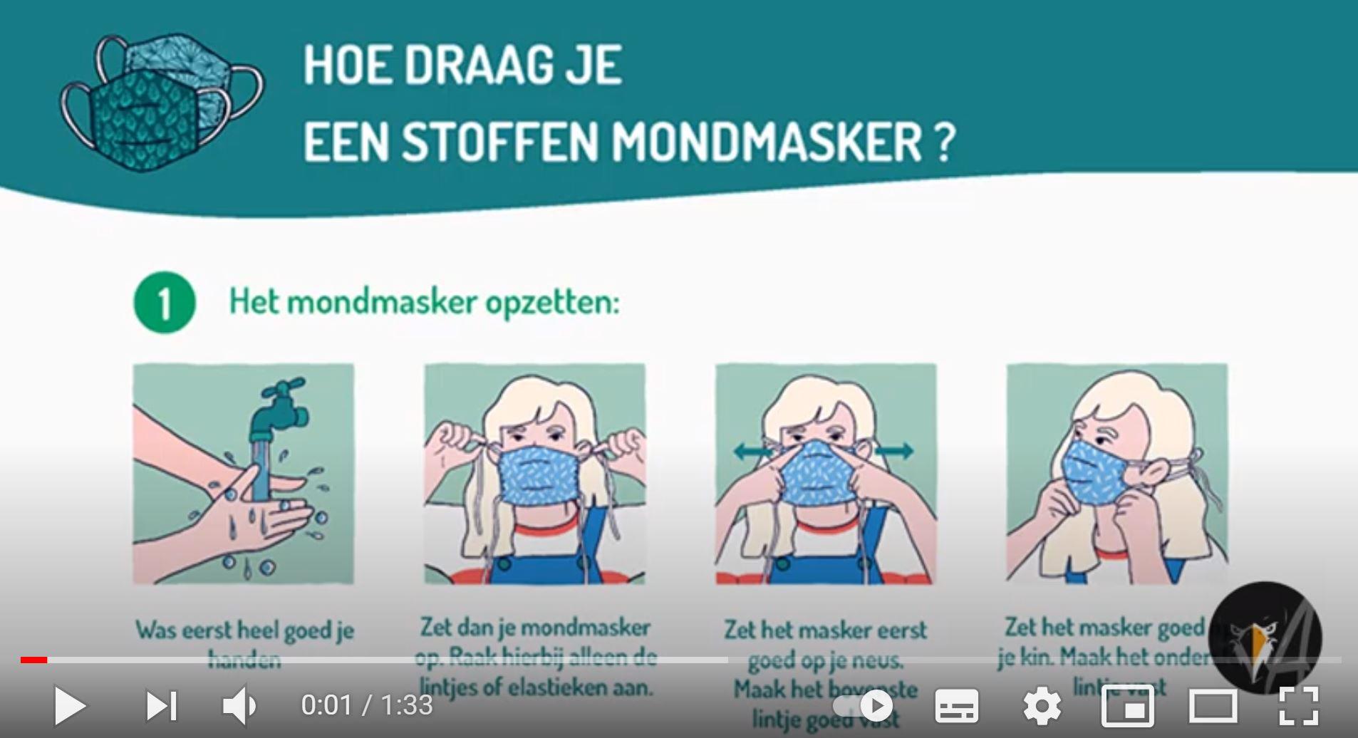 Hoe draag je een stoffen mondmasker? Infofiche FOD Volksgezondheid