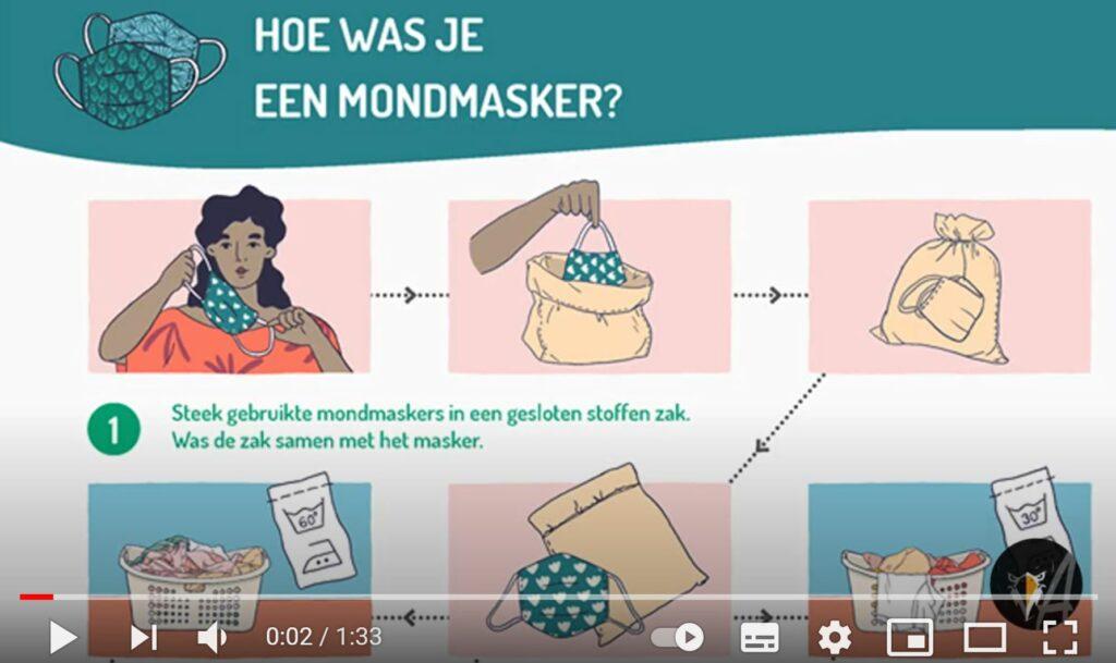 Hoe was je een mondmasker? Infofiche FOD Volksgezondheid