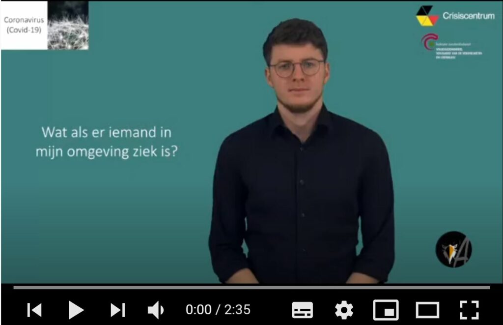 afbeelding van het startscherm, video: Wat als er iemand in mijn omgeving ziek is? - ingesproken door Ingeborg